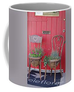 Two Chairs With Plants Coffee Mug