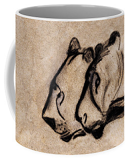 Two Chauvet Cave Lions - Clear Version Coffee Mug