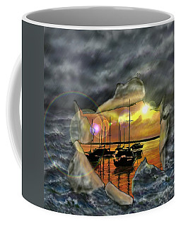 Coffee Mug featuring the digital art Two Climates by Darren Cannell