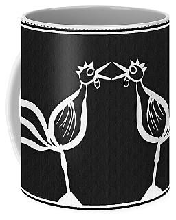 Two Crowing Roosters 2 Coffee Mug by Sarah Loft