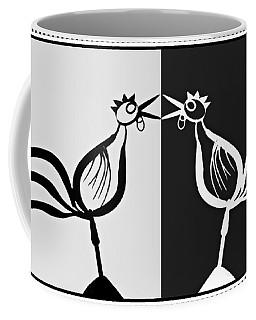 Two Crowing Roosters 3 Coffee Mug