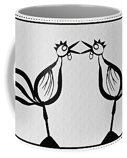 Two Crowing Roosters  Coffee Mug by Sarah Loft