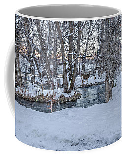 Two Deer At Sunset Coffee Mug by Sue Smith
