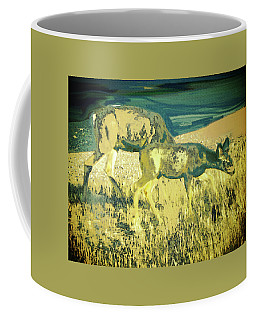 Two Deer Coffee Mug by Lenore Senior