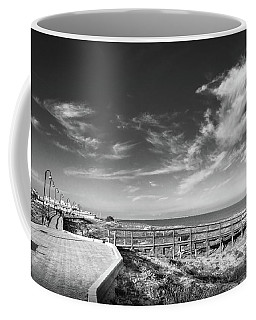 Two Directions At The Beach Coffee Mug