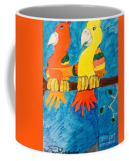 Two Double Yelloe Headed Birds Coffee Mug
