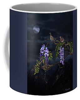 Mourning Doves In Moonlight Coffee Mug