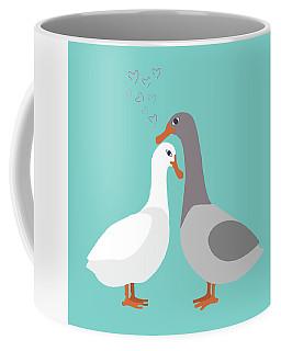 Two Ducks In Love Coffee Mug