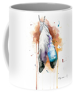 Two Feathers Coffee Mug