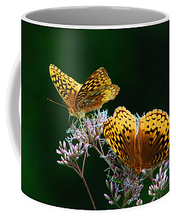 Two Fritillaries Coffee Mug by Kathryn Meyer