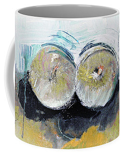 Coffee Mug featuring the painting Two Granny Smiths by Lisa Kaiser