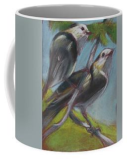Two Gray Jays Coffee Mug