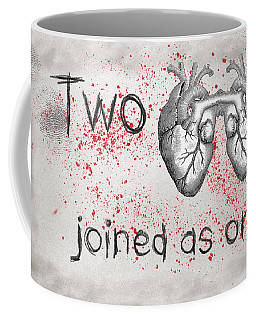 Two Hearts Joined As One Coffee Mug