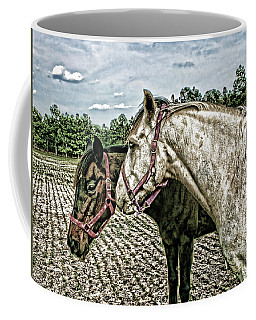 Two Horses In A Field Coffee Mug