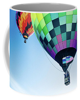 Two Hot Air Balloons Ascending Coffee Mug