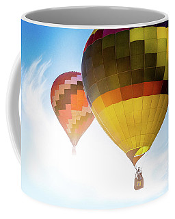 Two Hot Air Balloons Into The Sun Coffee Mug