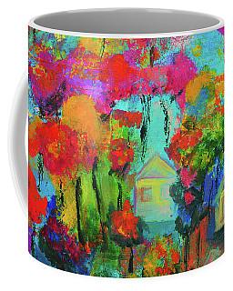 Two Houses Coffee Mug by Haleh Mahbod