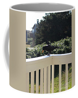 Coffee Mug featuring the photograph Two In The Beak by Marie Neder