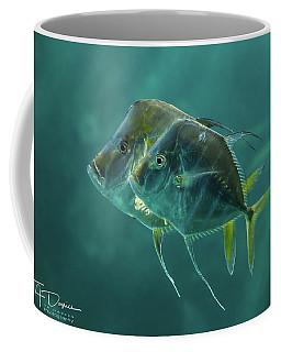 Two In Turquoise Coffee Mug