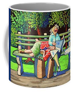Two Ladies On Bench Coffee Mug