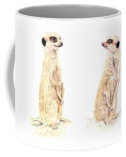 Two Meerkats Coffee Mug by Elizabeth Lock