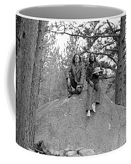 Two Men On A Boulder In The American West, 1972 Coffee Mug