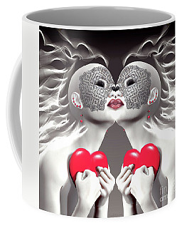 Two Merciful Hearts Coffee Mug