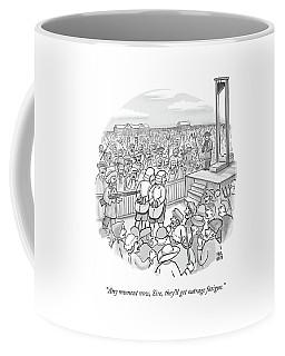Two Nobles Walk Toward Guillotine Coffee Mug
