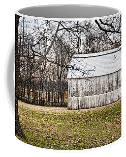 Two Oaks White Kentucky Barn Coffee Mug by Greg Jackson