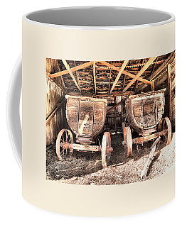 Coffee Mug featuring the photograph Two Old Wagons by Jeff Swan