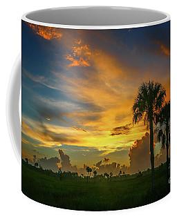 Two Palm Silhouette Sunrise Coffee Mug