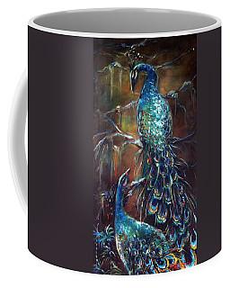 Two Peacocks Coffee Mug