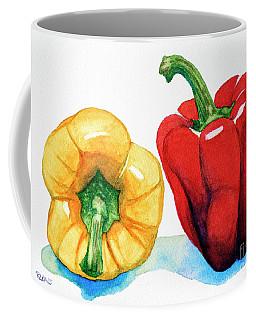 Two Peppers Coffee Mug by Rebecca Davis