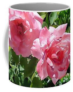 Two Pink Roses Version 1 Coffee Mug