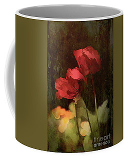 Coffee Mug featuring the painting Two Poppies by Elaine Teague