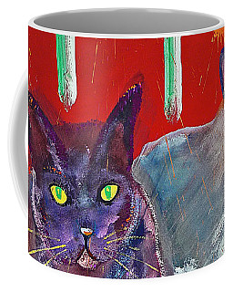 Two Posh Cats Coffee Mug