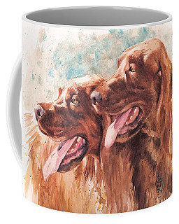 Two Redheads Coffee Mug by Debra Jones