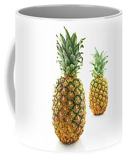 Two Ripe Pineapples, Focus On The Closest One Coffee Mug