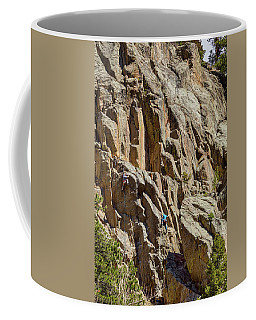 Coffee Mug featuring the photograph Two Rock Climbers Making Their Way by James BO Insogna