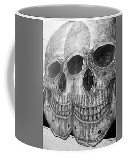 Coffee Mug featuring the photograph Two Skulls ... by Juergen Weiss