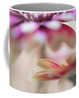 Coffee Mug featuring the photograph Two Souls 1. Macro Gerbera by Jenny Rainbow