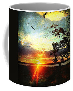 Two Souls Flying Off Into The Sunset  Coffee Mug