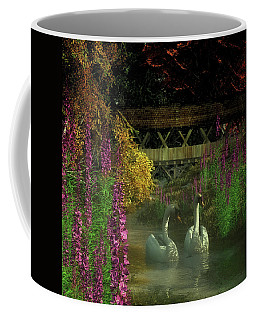 Two Swans And A Bridge Coffee Mug