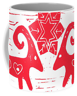 Two Swedish Yule Goats Coffee Mug