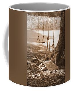 Two Swings - Sepia Coffee Mug by Beth Vincent