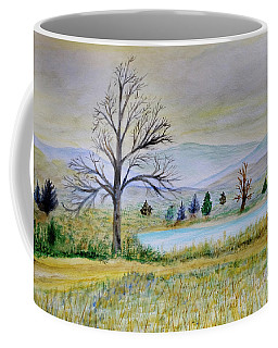 Two Tracking Coffee Mug by Dick Bourgault