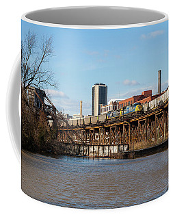 Coffee Mug featuring the photograph Two Trains Passing In The Day by Joseph C Hinson Photography