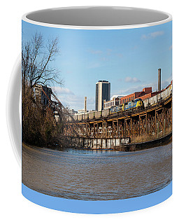 Two Trains Passing In The Day Coffee Mug