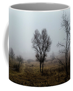 Two Trees In The Fog Coffee Mug