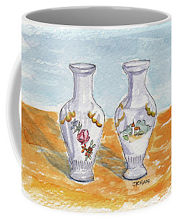 Two-view Vase Coffee Mug
